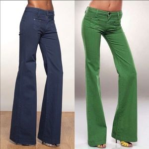 Dittos Turquoise Super flare jeans